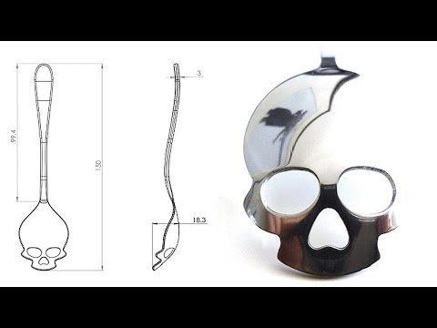 HOW TO MAKE a SKULL SHAPED SPOON