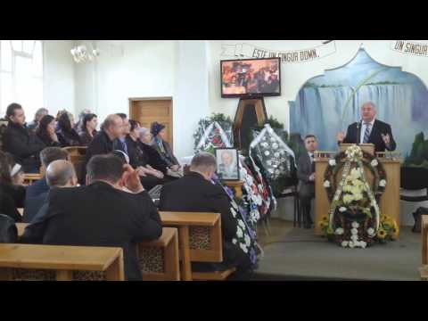 Matei Arghir - înmormântare (3) - predică Viorel Candrianu