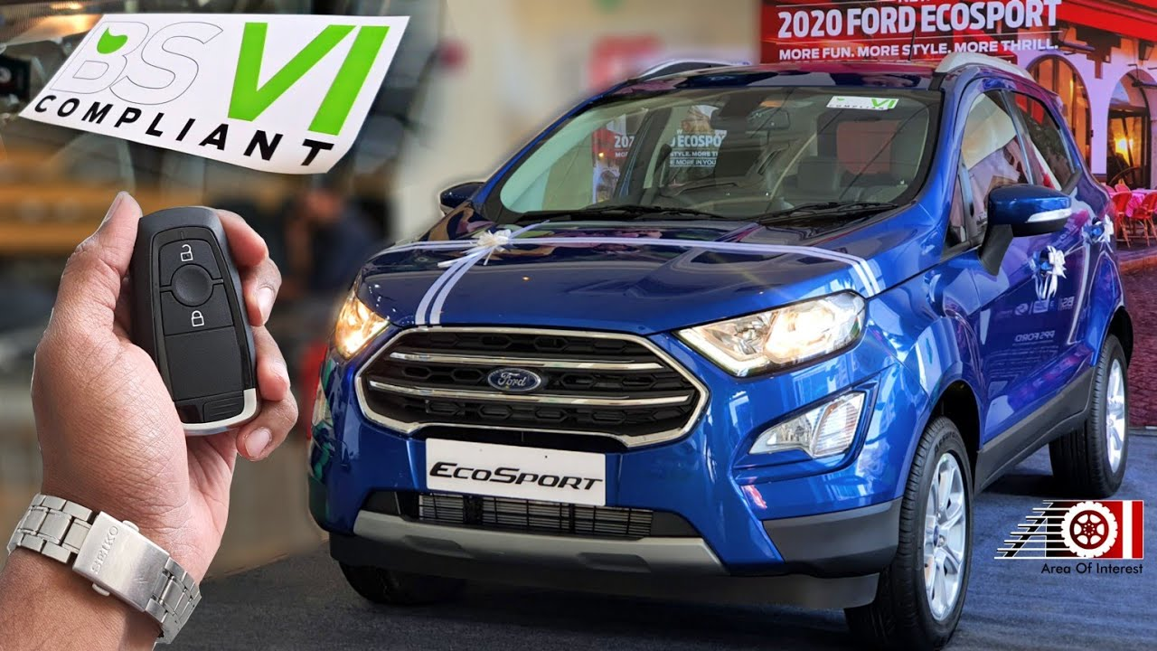 2020 Ford Ecosport Bs6 Thunder Edition Sunroof On Road Price