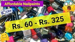 Affordable Nailpaints    Rs. 60 - Rs. 325    Affordable Branded Nail Polishes in India
