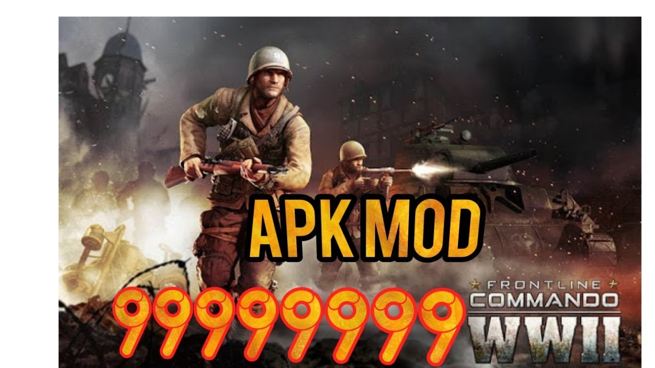 FRONTLINE COMMANDO: WW2 (MOD, money/gold) free on android
