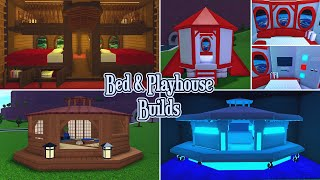 Bloxburg | Furniture Builds | Playhouse / Bed Builds (Pirate Boat, Rocket, UFO & Tea House)