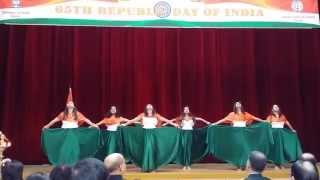 Colours of India Group Dance  Revival Vande Mataram & Instrumental fusion