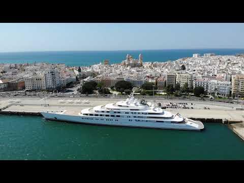M:Y AZZAM 180meter Super Yacht visit Cadiz Spain