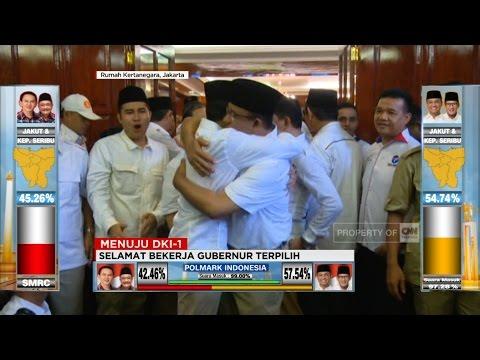 Anies Baswedan -Sandi Berpelukan Erat Usai Deklarasi Kemenangan Oleh Prabowo