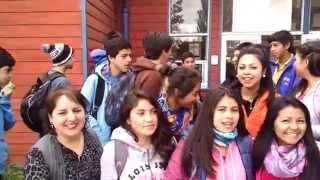 Los equipos de futbol masculino y femenino del Liceo Rodulfo Amando Philippi