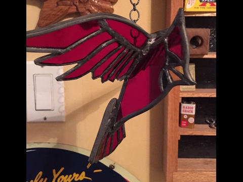 How to make a stained glass bird in 3D