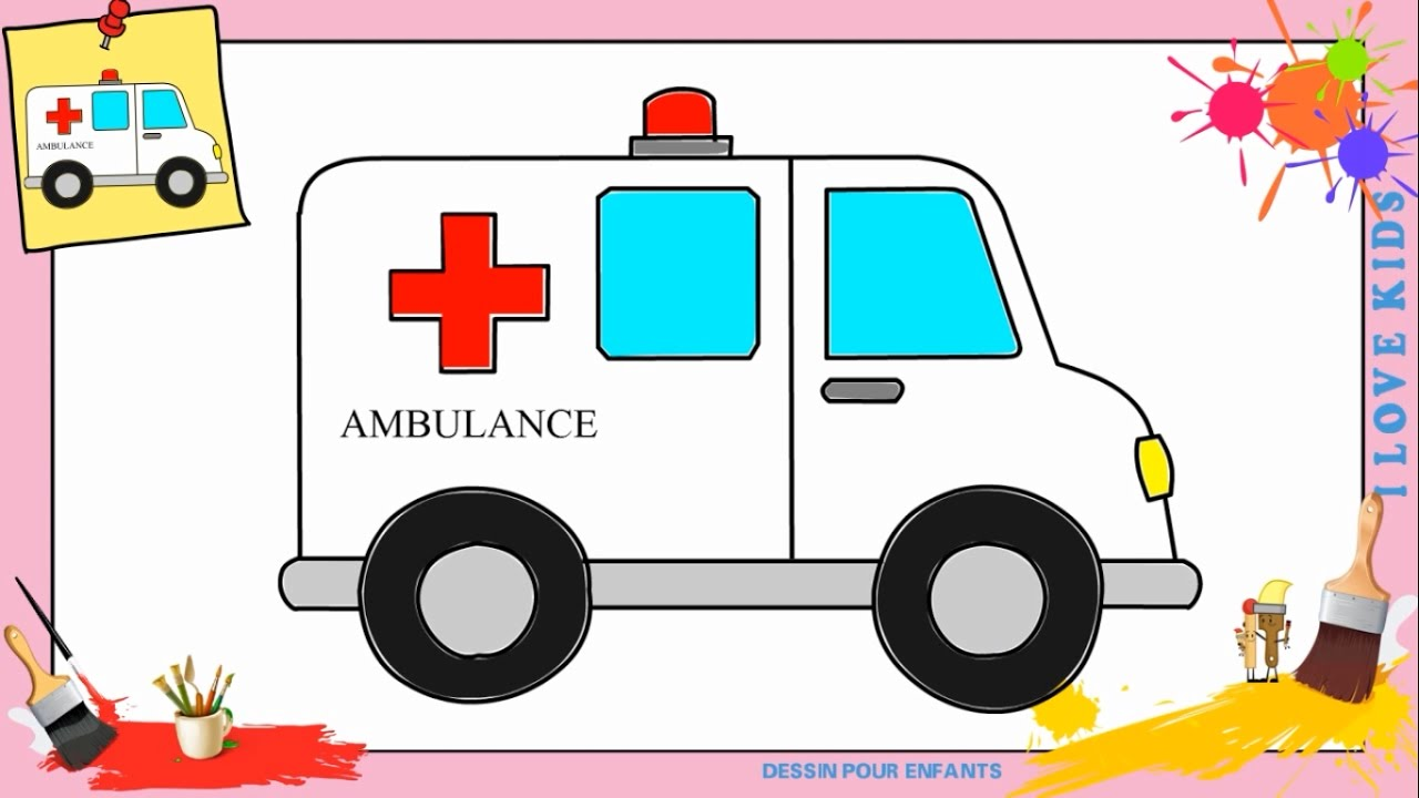 Coloriage Camion Samu.Dessin Ambulance Comment Dessiner Une Ambulance Facilement Pour