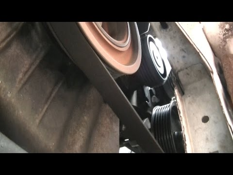 Auxiliary drive belt and  idler pulley change