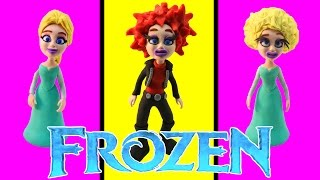 Play Doh Frozen Stop Motion Transforming Elsa! Playdough Animación de Disney Frozen Rock n' Roll