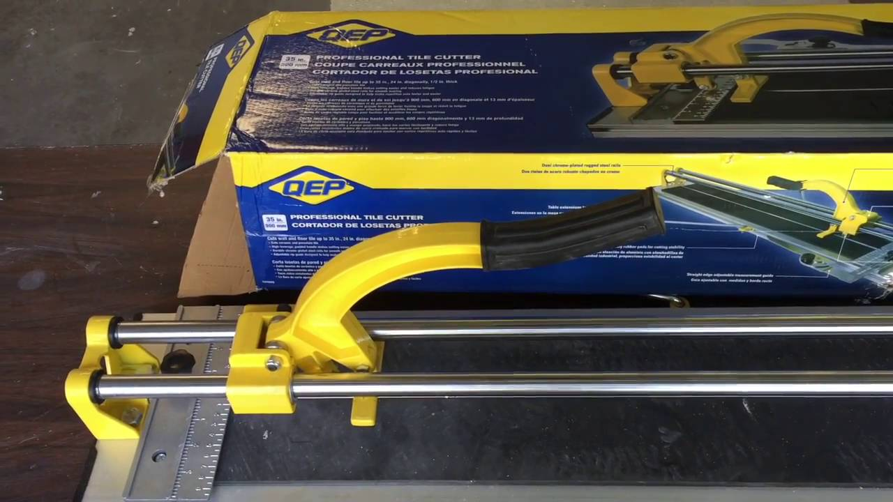 Qep 35 Manual Tile Cutter How To Real Home Project Youtube