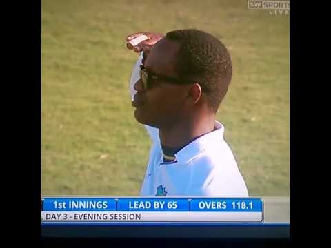 Awesome send off to Ben stokes by Marlon samuels