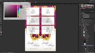 Photoshop CS3+ Modifying Template Colors Using Davids Bridal Quick Adjust