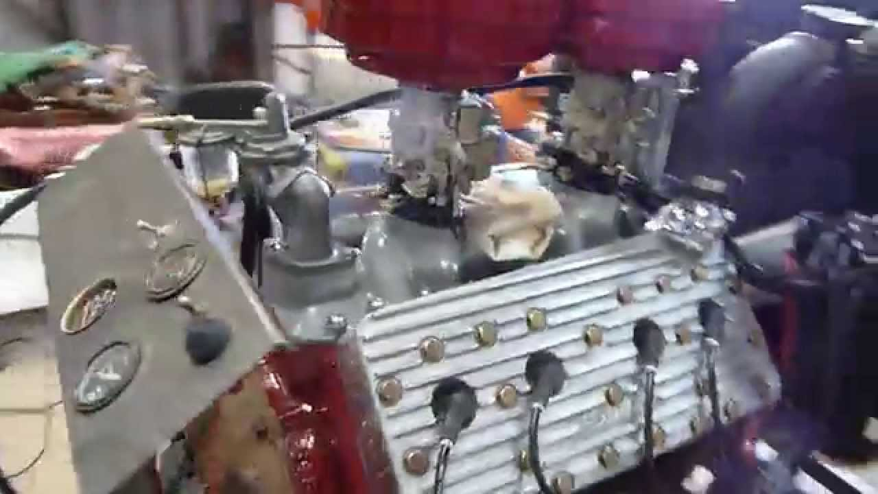 1954 8ba Flathead Ford V8 modified - YouTube