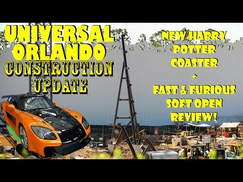 Fast & Furious Tour / Review + Crazy New Potter Coaster Work Universal Orlando Update 4.16.18