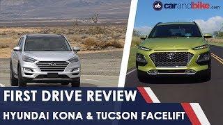 Hyundai Kona & Tucson Facelift: First Drive | NDTV carandbike