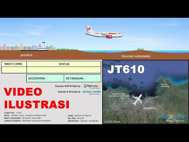 VIDEO ILUSTRASI : Kronologi Jatuhnya Pesawat JT610 dari mulai Take-Off hingga Crash!!!