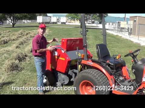 Tractor Tools Direct - Tedding, Raking, and Baling demonstration