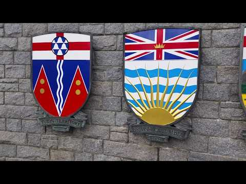 Awesome Display of the Canadian Provinces Coat of Arms in Victoria, Vancouver Island, BC, Canada