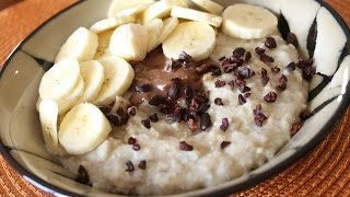 Stay Fit Sunday | Oatmeal With  Banana & Chocolate Peanut Butter