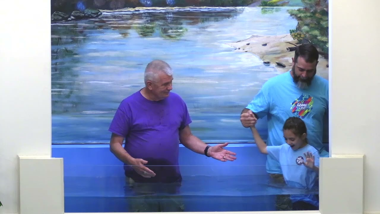"""18 July 2021 """"VBS Youth Baptism Service"""" Larry McCarty"""