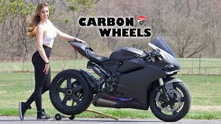 Panigale with $4,000 Carbon Fiber Wheels!!!