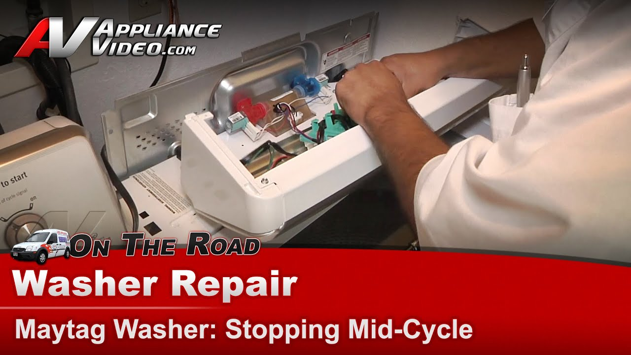 Kenmore Washer Repair >> Washer Repair Stopping Mid-Cycle - Maytag,Whirlpool,Sears,KitchenAid,Roper,Kenmore-MVWC450XW4 ...