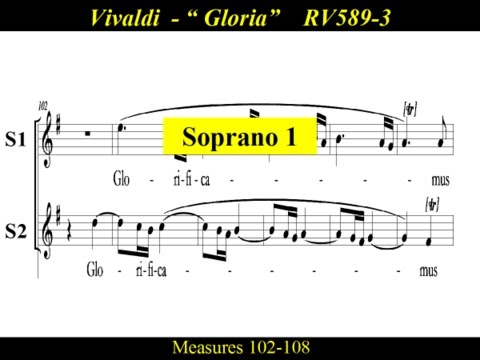 Vivaldi - Gloria - RV589 - 3 Laudamus Te - Soprano1