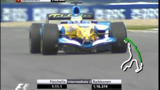 F1 Spa 2005 Qualifying - Giancarlo Fisichella Lap Mix
