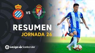 Resumen de RCD Espanyol vs Real Valladolid (3-1)