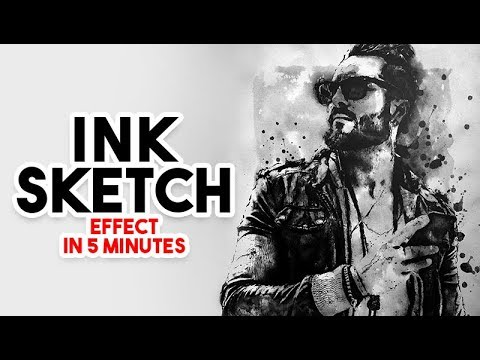 Photo to Ink sketch in Photoshop tutorial