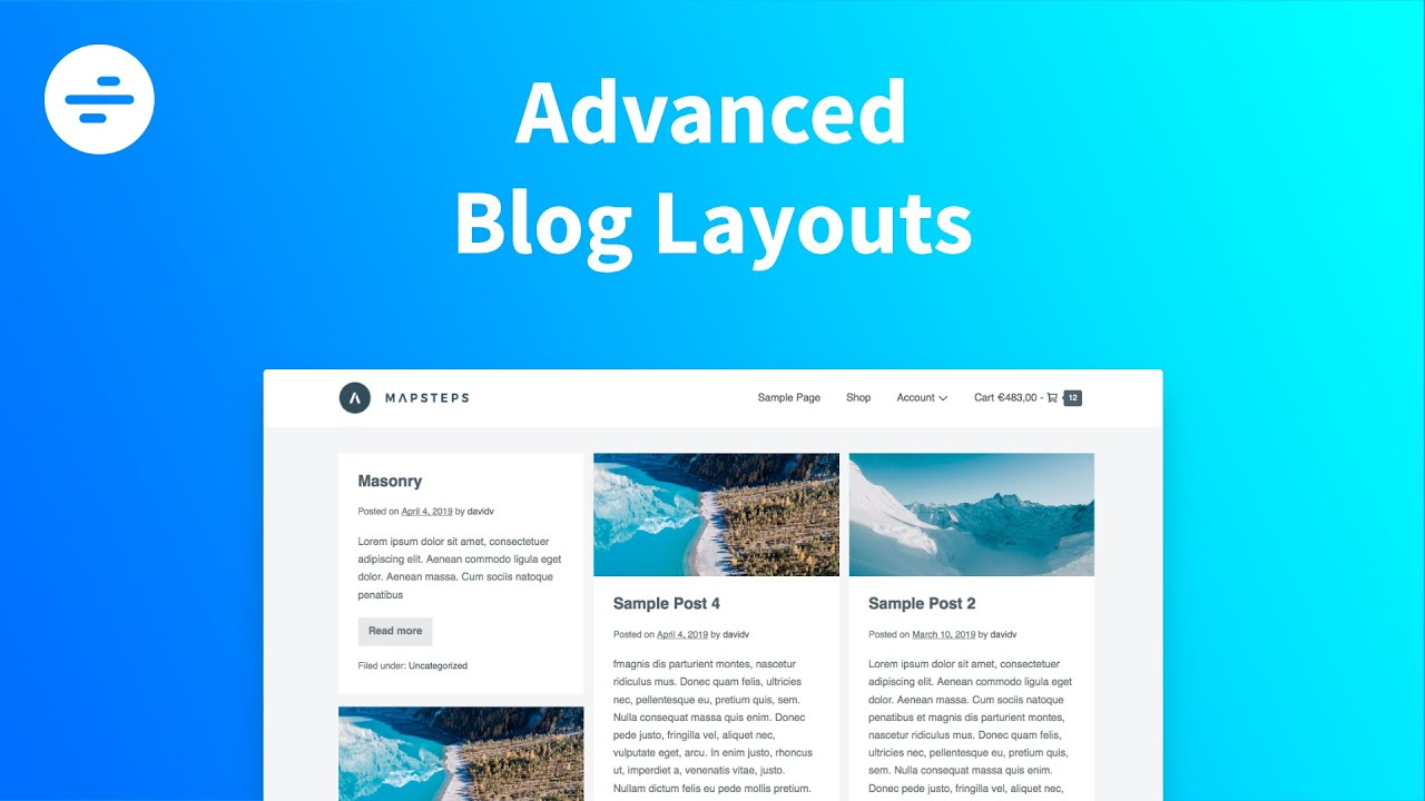Advanced Blog Layouts   Page Builder Framework