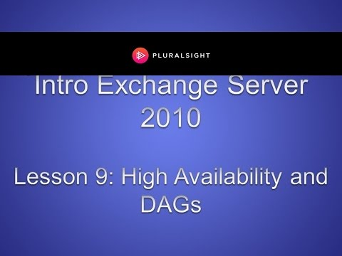 Exchange Server 2010 High Availability and Database Availability Groups