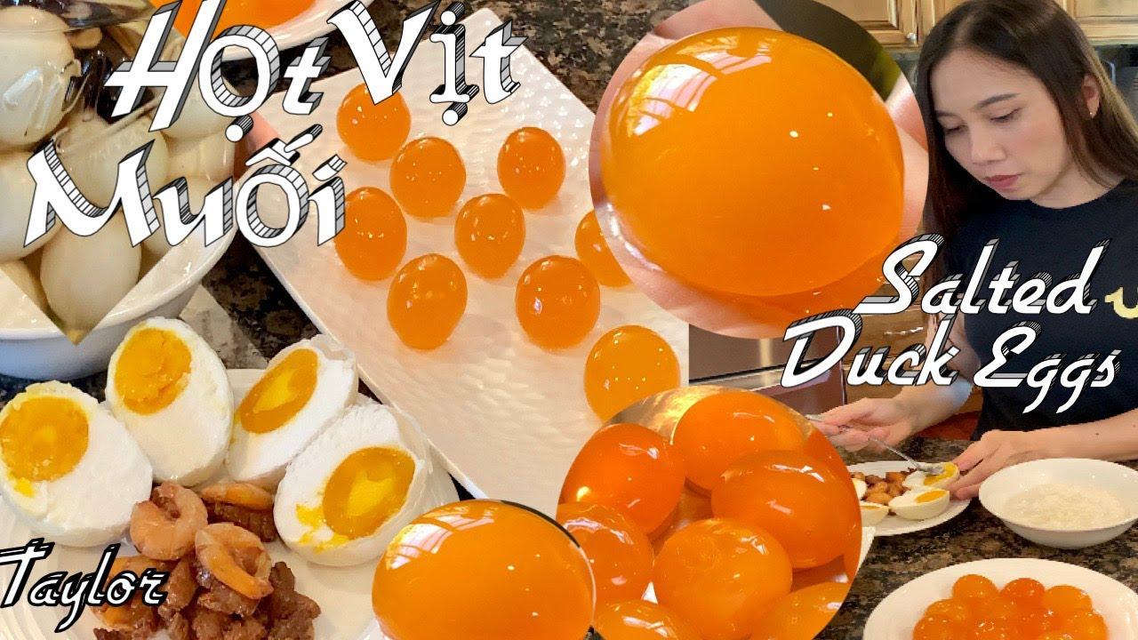 Chia Sẻ Cách Làm Trứng Vịt Muối Để Làm Bánh Trung Thu, Bánh Bông Lan Mặn - Salted Duck Eggs - Taylor
