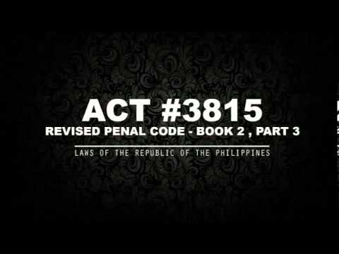 REVISED PENAL CODE - BOOK 2 Pt. 3 [AUDIOBOOK]