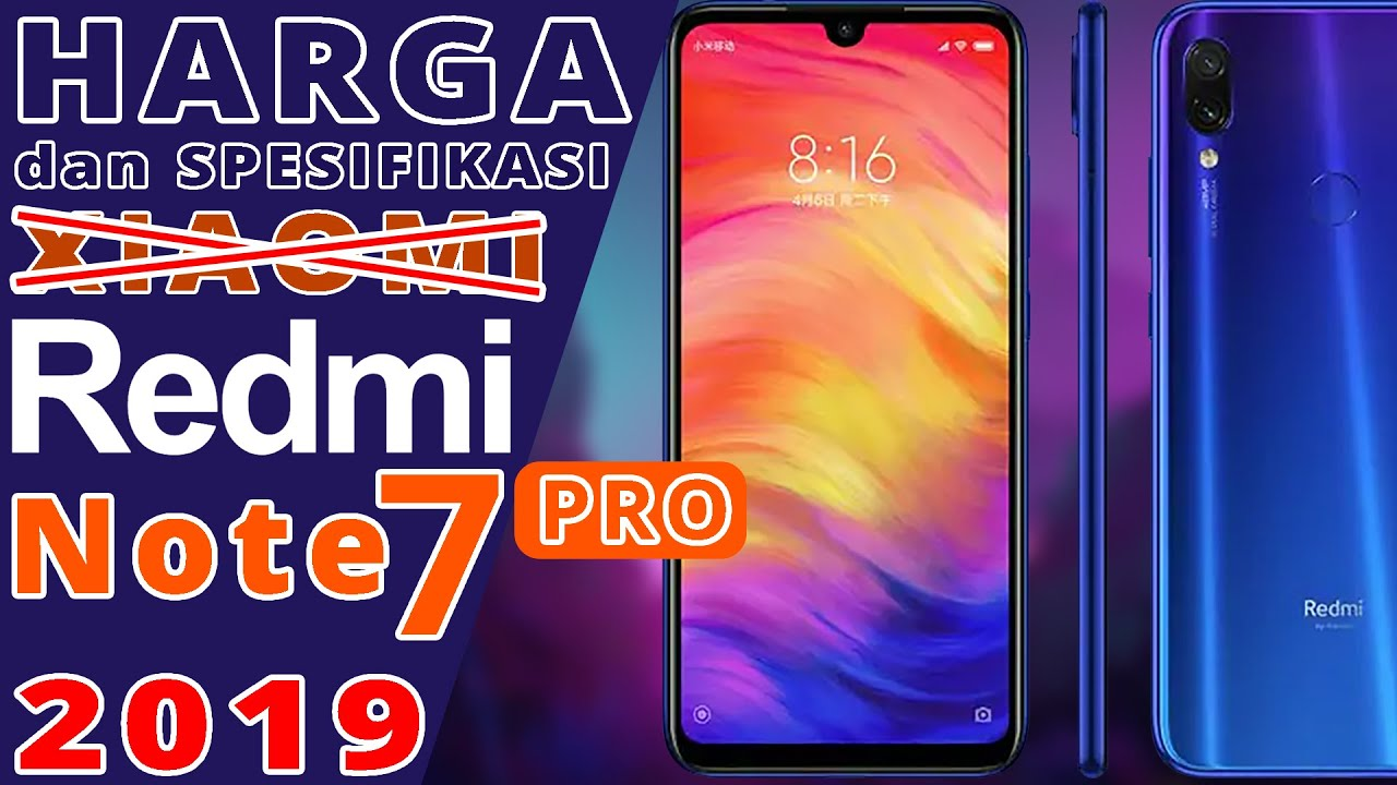 Redmi Note 7 Pro 2019 Harga Dan Spesifikasi Youtube