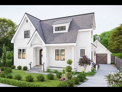 Architectural Designs Modern Farmhouse Plan 25408TF Virtual Tour