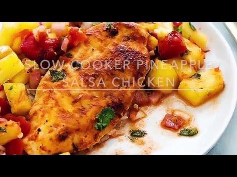 Slow Cooker Pineapple Salsa Chicken