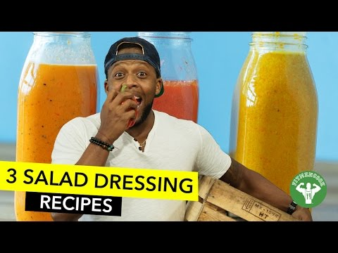 3 Natural Salad Dressing Recipes / 3 Aderezos Naturales