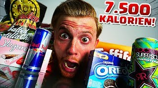 SELBSTEXPERIMENT: 7500 Kalorien an EINEM Tag ?!