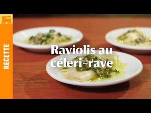 Raviolis au céleri-rave