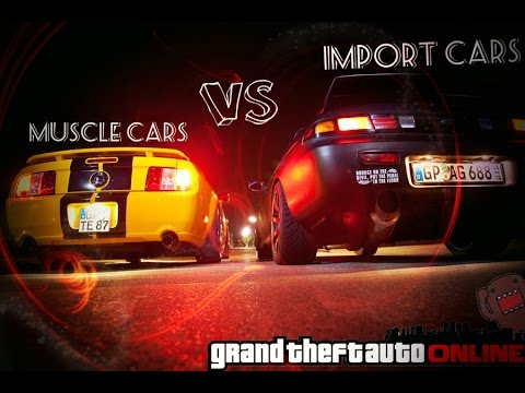 gta v online muscle cars vs import cars car meet youtube. Black Bedroom Furniture Sets. Home Design Ideas
