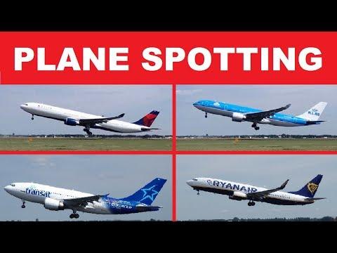 PLANE SPOTTING TAKE OFF - DELTA - KLM - TUI - EASYYET - RYANAIR - CITYJET - AIR TRANSAT - EMIRATES