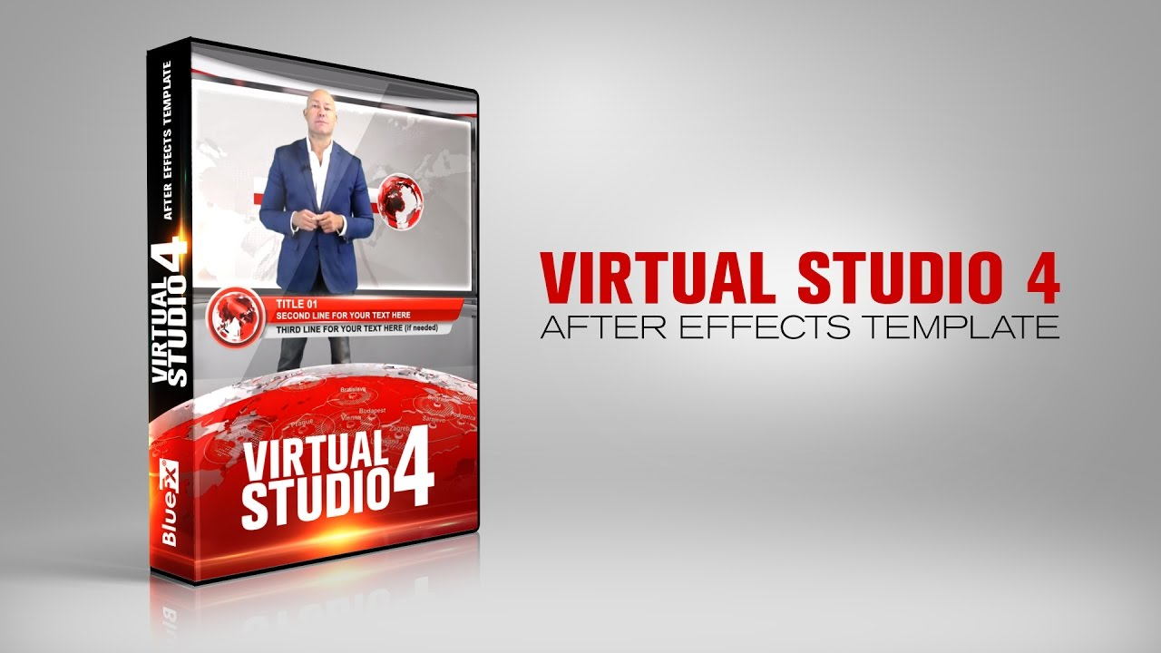 virtual news studio 4 after effects template youtube. Black Bedroom Furniture Sets. Home Design Ideas