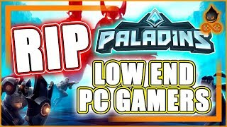 NEW MINIMUM SYSTEM REQUIREMENTS FOR PALADINS