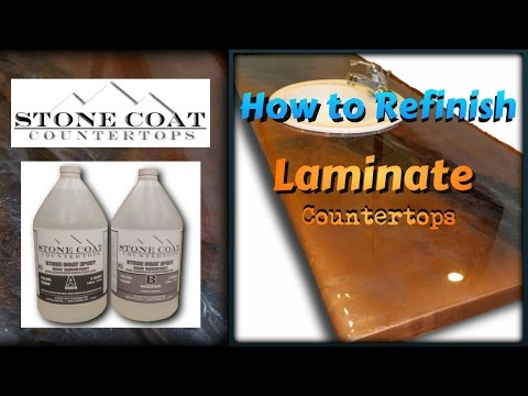 How to refinish  old Laminate Counter tops