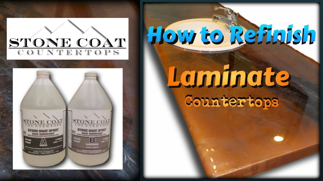 How To Refinish Old Laminate Counter Tops Youtube