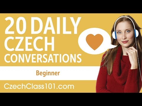20 Daily Czech Conversations - Czech Practice for Beginners