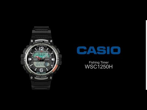 Casio Analog Digital WSC1250H:  Fishing Timer Watch
