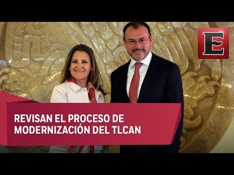 Conferencia de Chrystia Freeland, Luis Videgaray y Ildefonso Guajardo